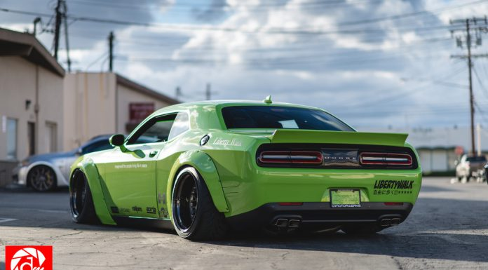 Liberty Walk Dodge Challenger Scat Pack rear