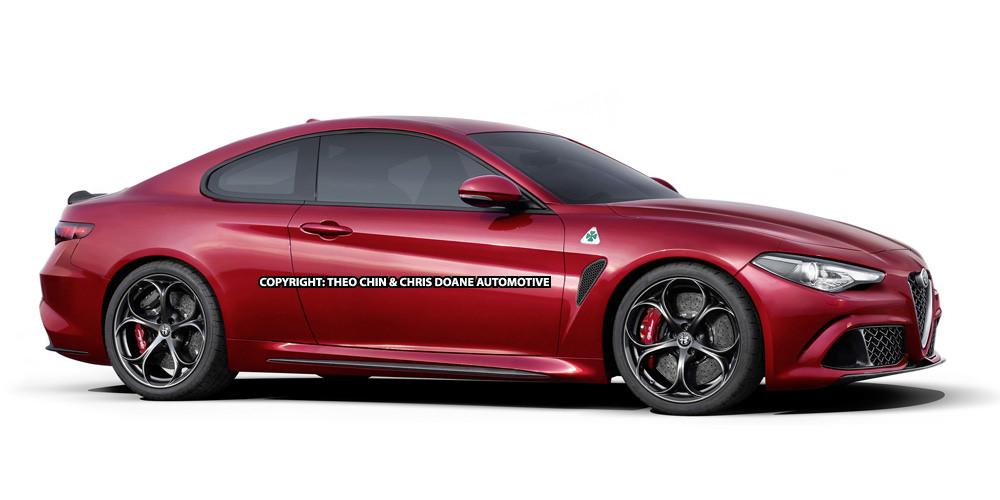 Alfa Romeo Giulia Coupe red