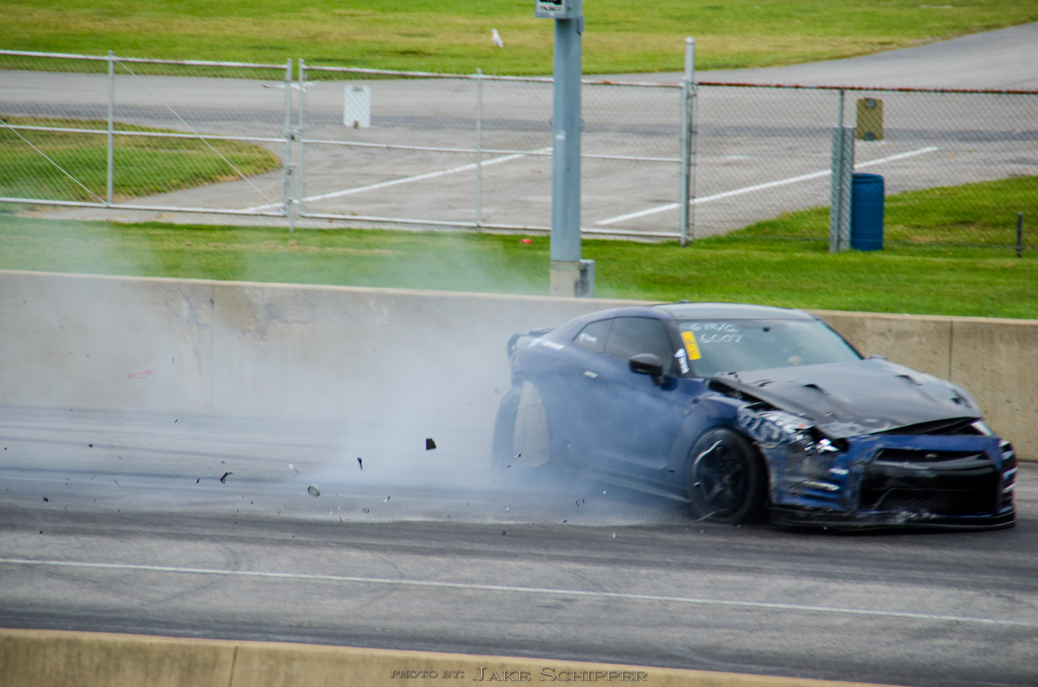 Video 7 Second Nissan Gt R Crashes Heavily During 1 4 Mile Run