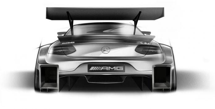 2016 Mercedes DTM racecar rear view