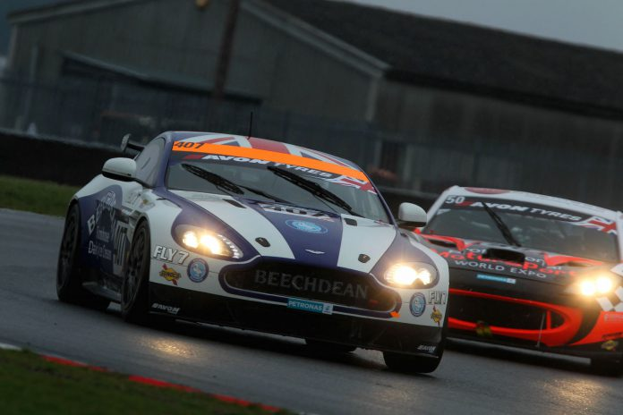 The Beechdean Aston Martin Vantage GT4 at full tilt