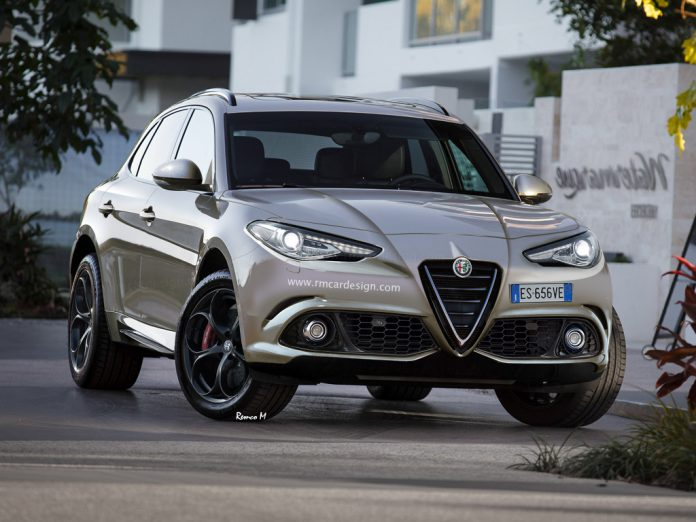 Alfa Romeo SUV rendered front