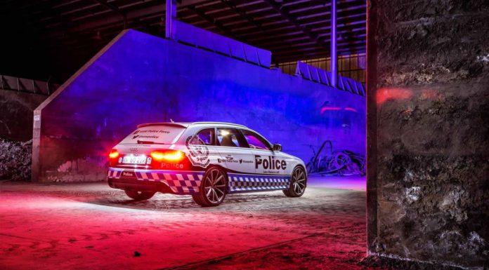 Audi RS4 Avant police car rear