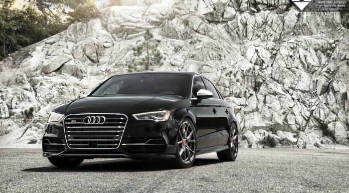 Black Audi S3 with Carbon Graphite Vorsteiner Wheels