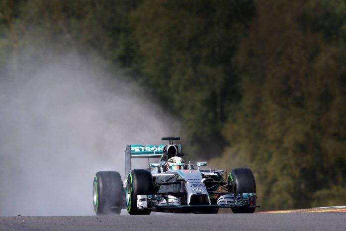 Mercedes at Belgian GP 2015