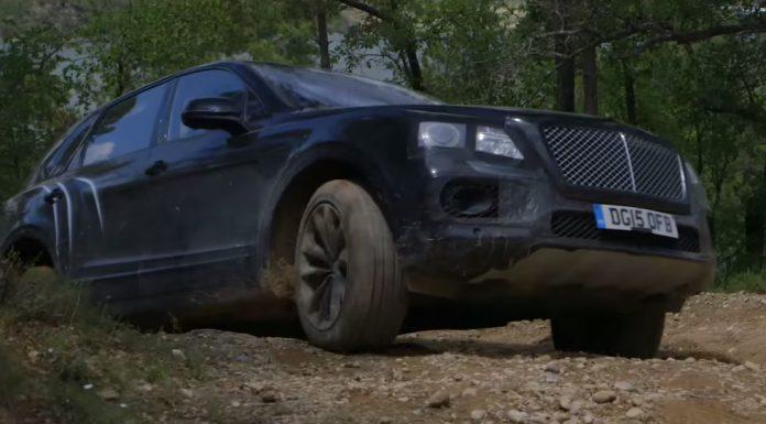 Bentley Bentayga goes off-road