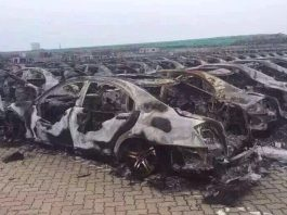 Brabus Mercedes-Benz S-Class destroyed in Tianjin