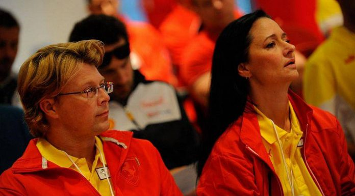 Ferrari drivers briefing
