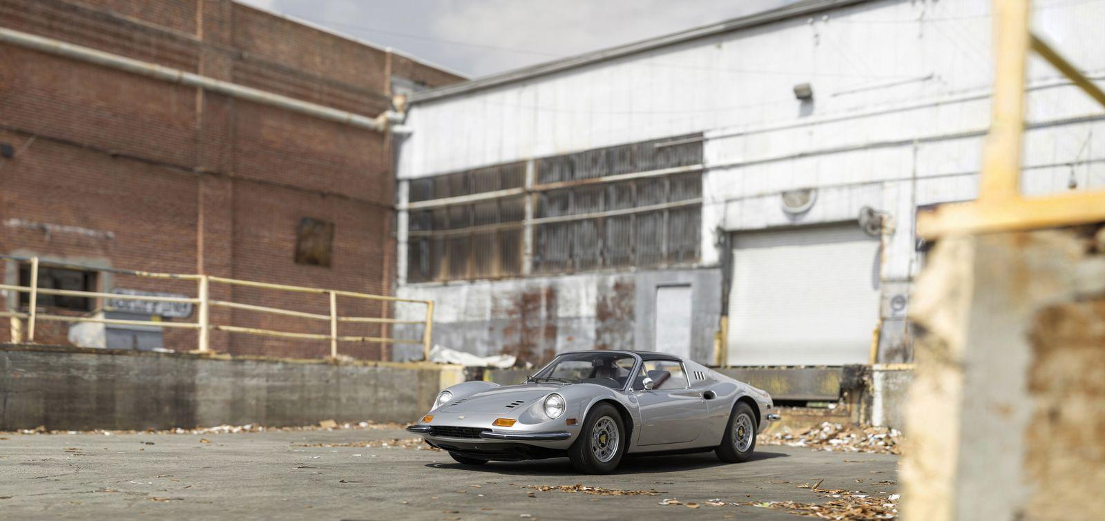 1974 Ferrari Dino 246 Gts Crossing Auction Block Gtspirit