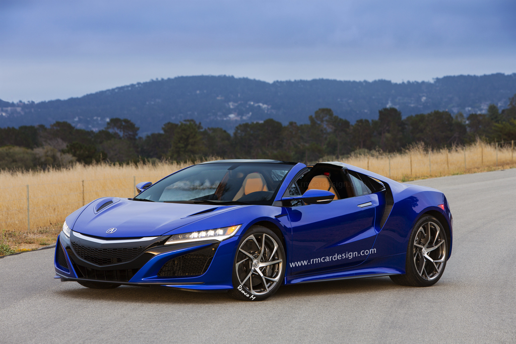 Honda NSX rendered as a Targa