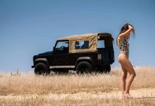 Hot Girl and Land Rover