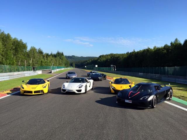 Hypercars: McLaren P1, LaFerrari, Porsche 918 Spyder, Koenigsegg Agera