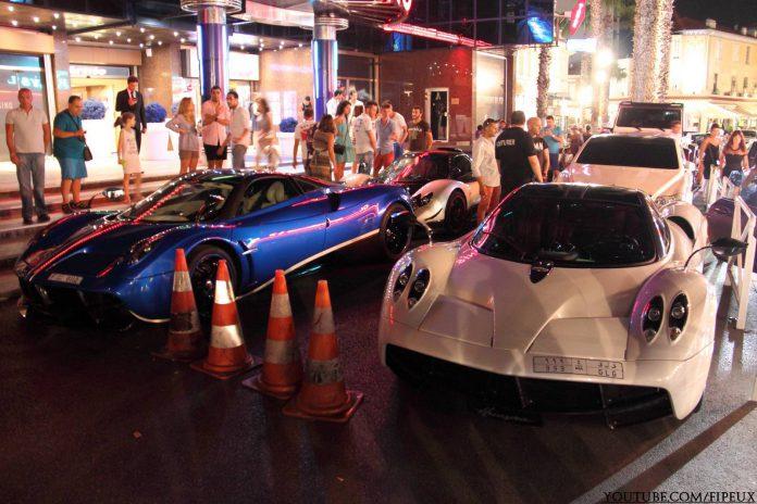 Arab Supercars Invade Juan Les Pins!