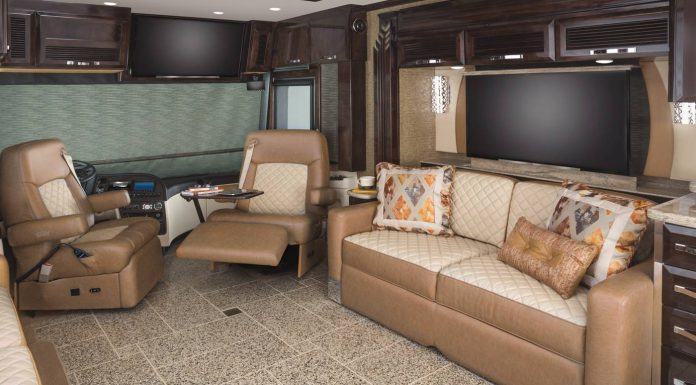 King Aire luxury motor home interior