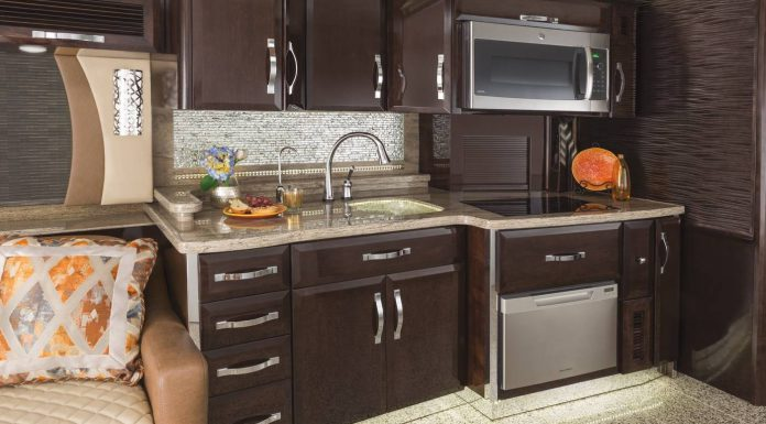 King Aire luxury motor home kitchen