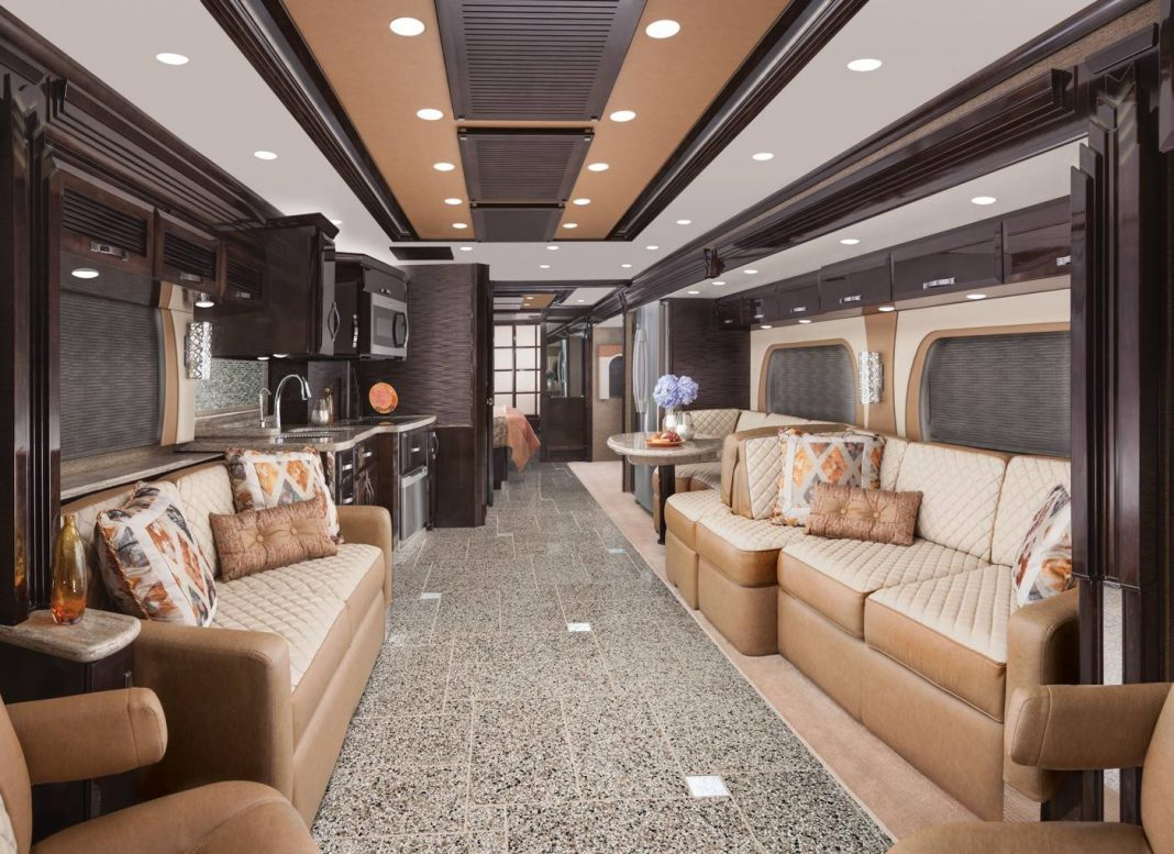 King Aire luxury motor home living area