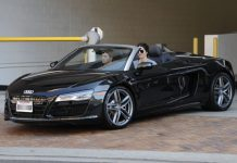 Kendall Jenner Audi R8 front