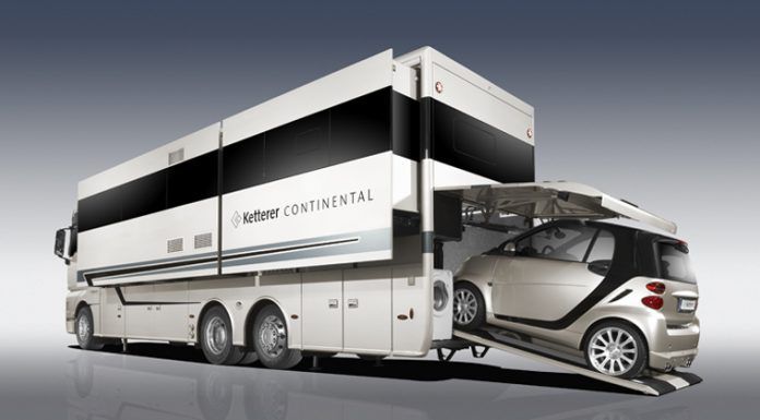 Ketterer Continental Motorhome Has Room For Your Smart Car!