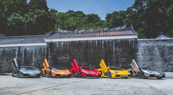 Photo of the Day: Lamborghini Aventador Group Shot