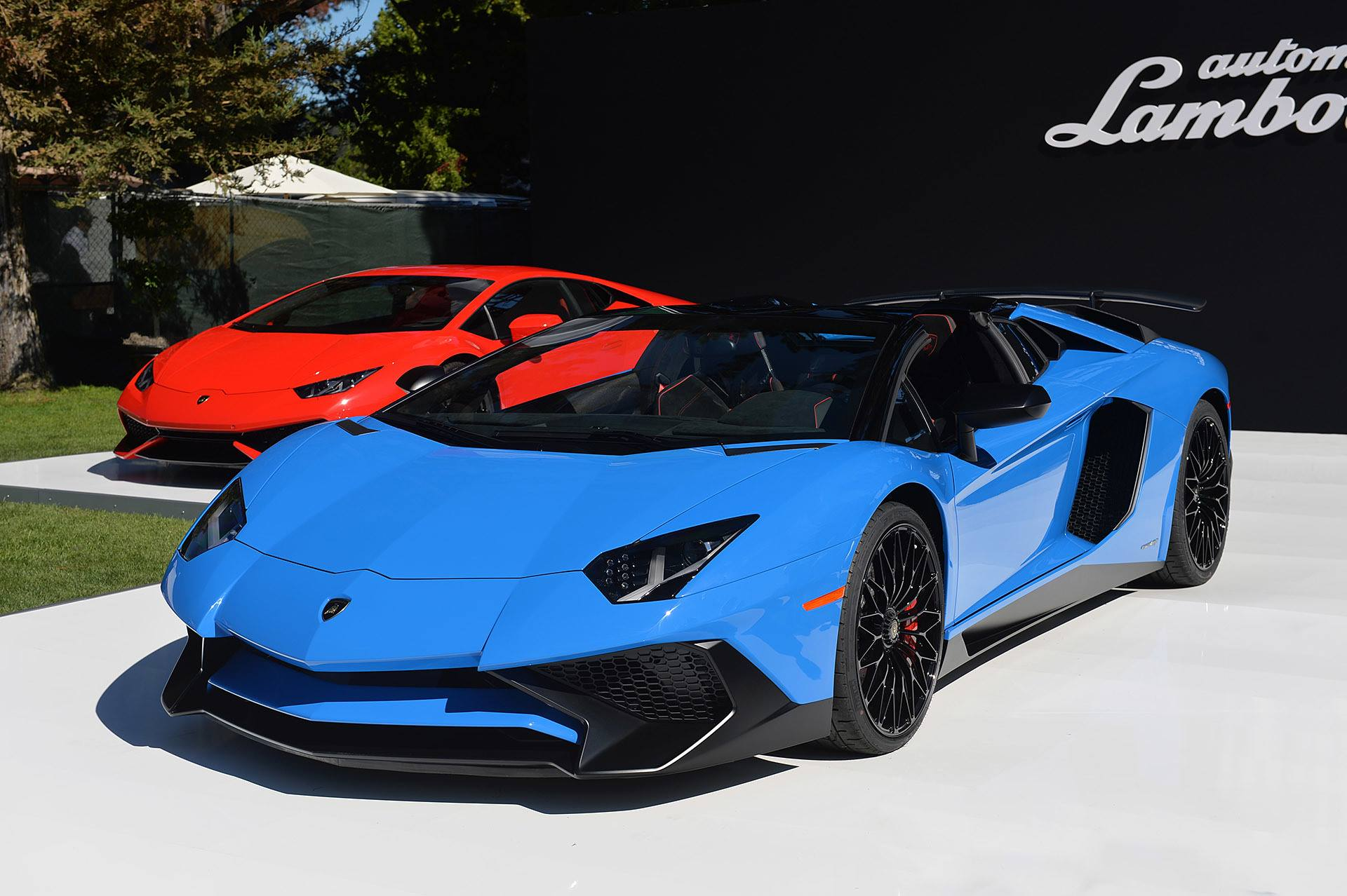 monterey 2015 lamborghini aventador sv roadster gtspirit. Black Bedroom Furniture Sets. Home Design Ideas