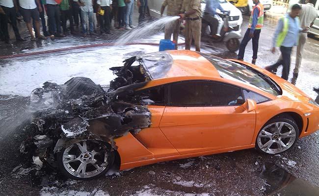 Lamborghini Gallardo Lp560 4 Burns In India Gtspirit