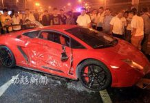 Lamborghini Gallardo STS crashes in China