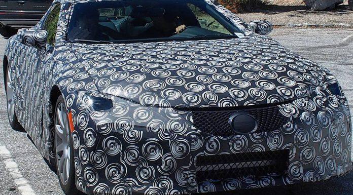 Lexus LF-LC spy shot
