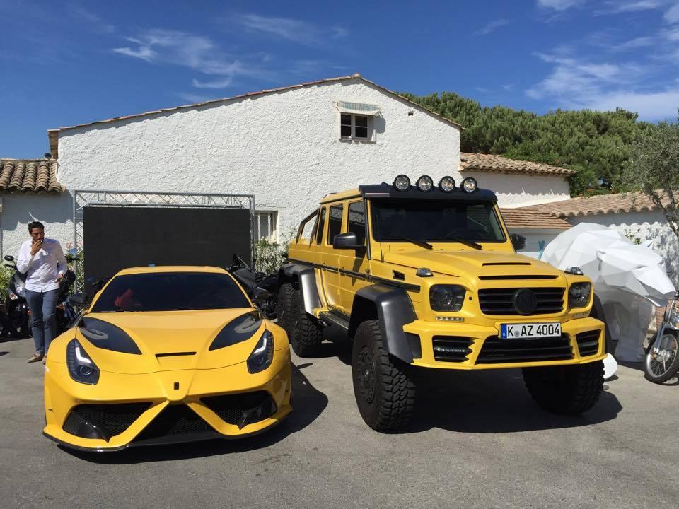 Yellow Mansory Ferrari F12 Stallone And Mercedes G63 Amg