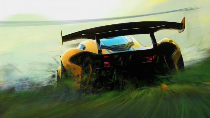 McLaren P1 GTR Drifting