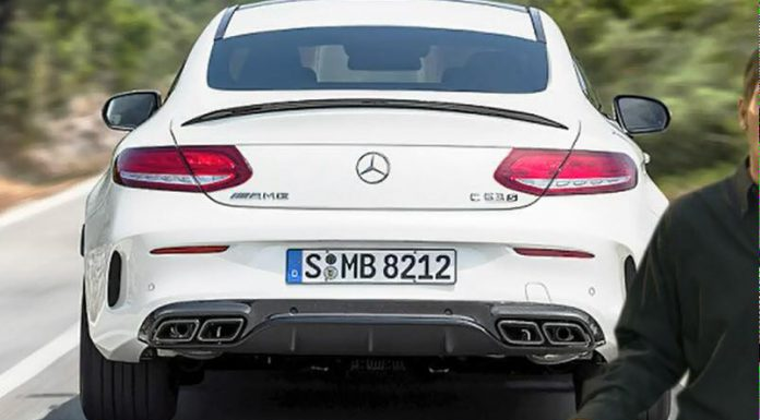 Mercedes-AMG C63 Coupe S leaked rear