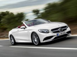 Mercedes-Benz S-Class Cabriolet Top Down