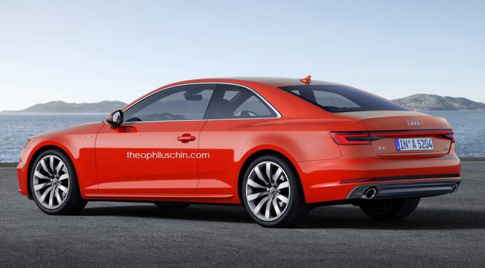 Next-gen Audi A5 front