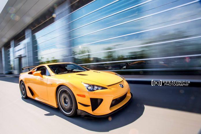 Orange Lexus LFA Nurburgring Edition