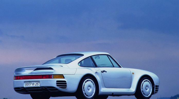 Silver Porsche 959