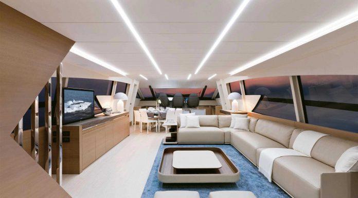 Pershing Yacht 92 interior lounge