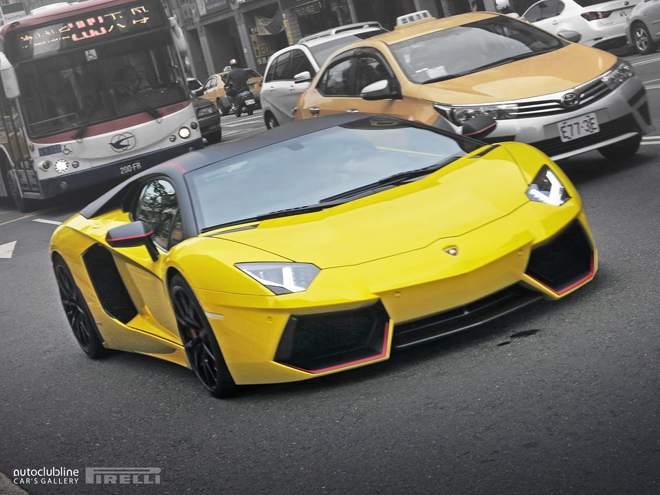 Yellow Lamborghini Aventador Pirelli Edition Snapped in