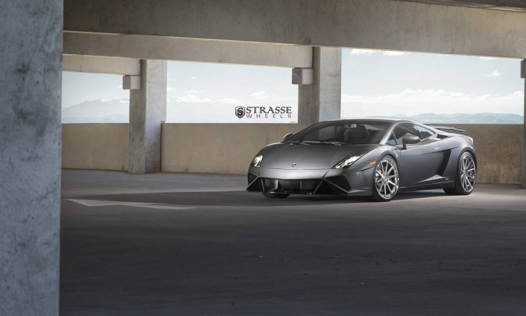 Grigio Lynx Lamborghini Gallardo Final Edition on Strasse Wheels
