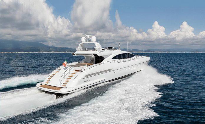 Superyacht at sea Mangusta 132