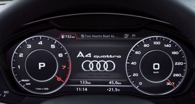 Audi A4 digital instrument cluster