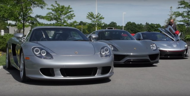 Porsche Carrera GT, 918 Spyder, McLaren P1