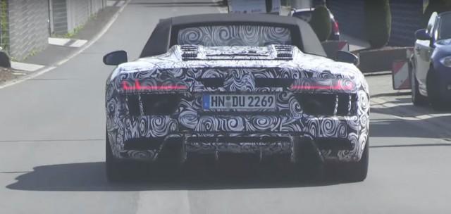 2016 Audi R8 Spyder tests at the Nurburgring