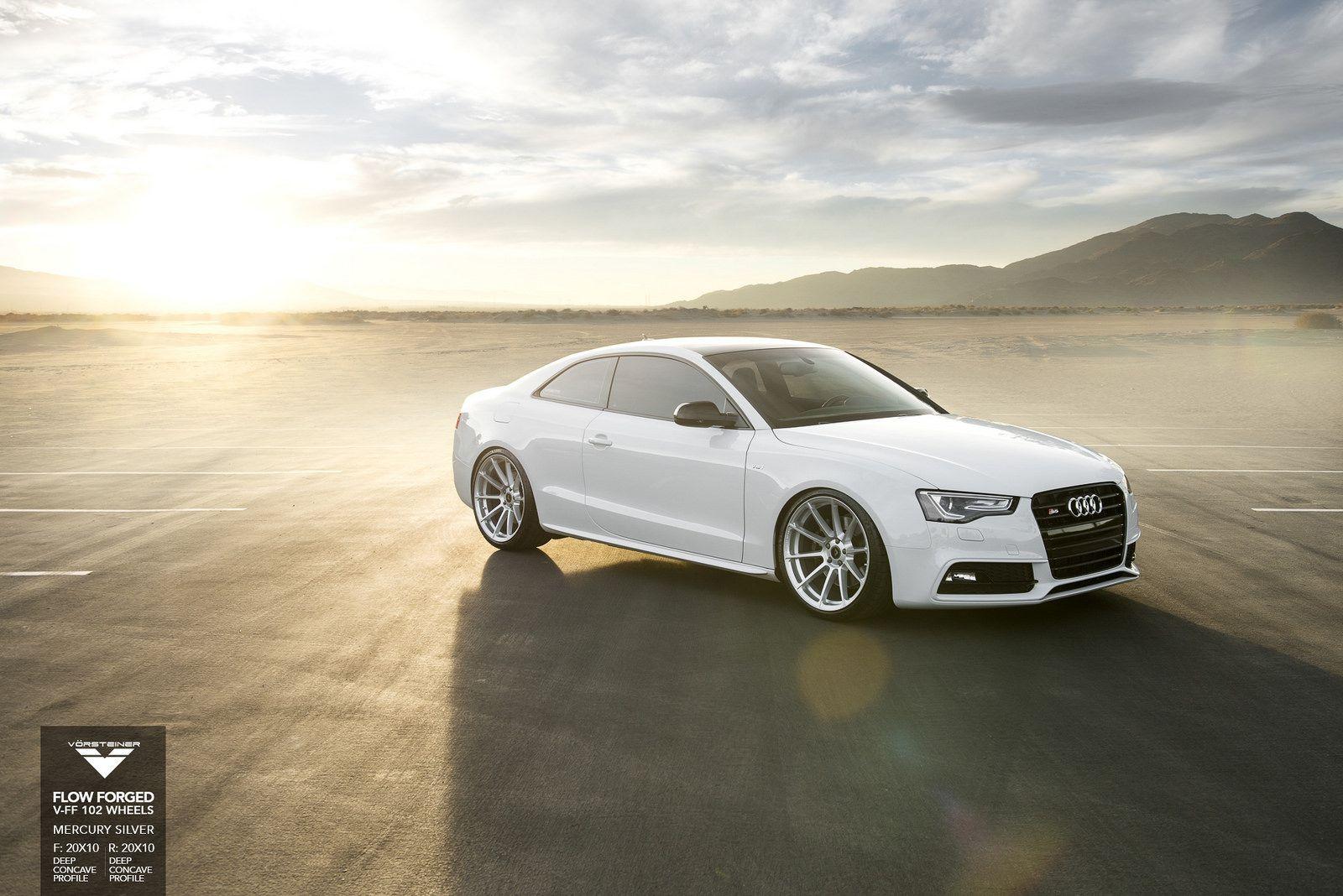 White Audi S5 Poses With Vorsteiner V Ff 102 Wheels Gtspirit 2015 vorsteiner audi s5 v ff 3