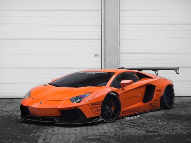 Widebody-Orange-Liberty-Walk-Lamborghini-Aventador-1