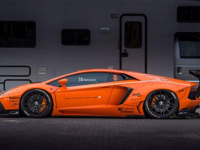 Widebody-Orange-Liberty-Walk-Lamborghini-Aventador-3