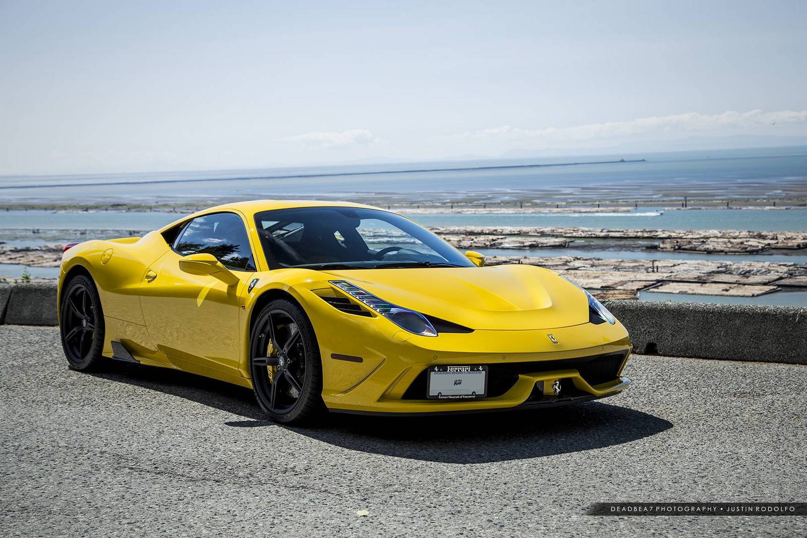 Ferrari 458 Italia Yellow Yellow Ferrari 458 Italia With Adv 1 Wheels Gtspirit Italia Yellow