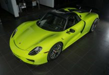 Acid Green Porsche 918 Spyder for sale