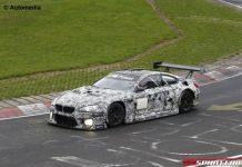 BMW M6 GT3 spy shots front