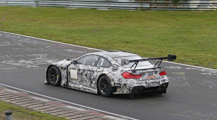 BMW M6 GT3 spy shots rear