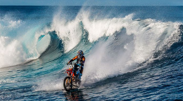 "Robbie ""Maddo"" Maddison and Dirt Bike Surfing in the Ocean"