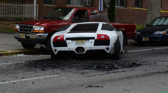 Fake Lamborghini Murcielago Crash in Jersey